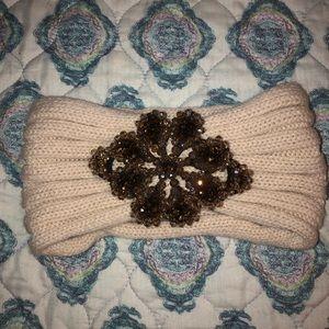 cold weather jeweled headband